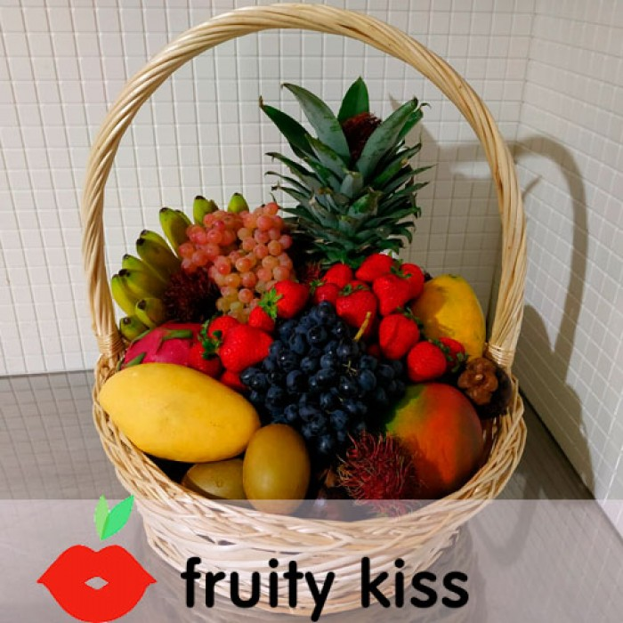Корзина с экзотическими фруктами №6 - сравнение фото 2