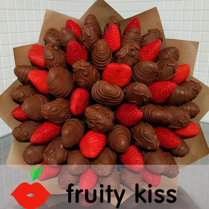 Букет из клубники в шоколаде №15 - сравнение фото 2