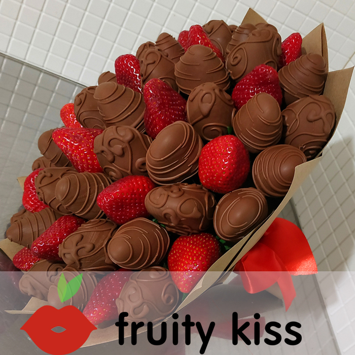 Букет из клубники в шоколаде №15 - сравнение фото 1